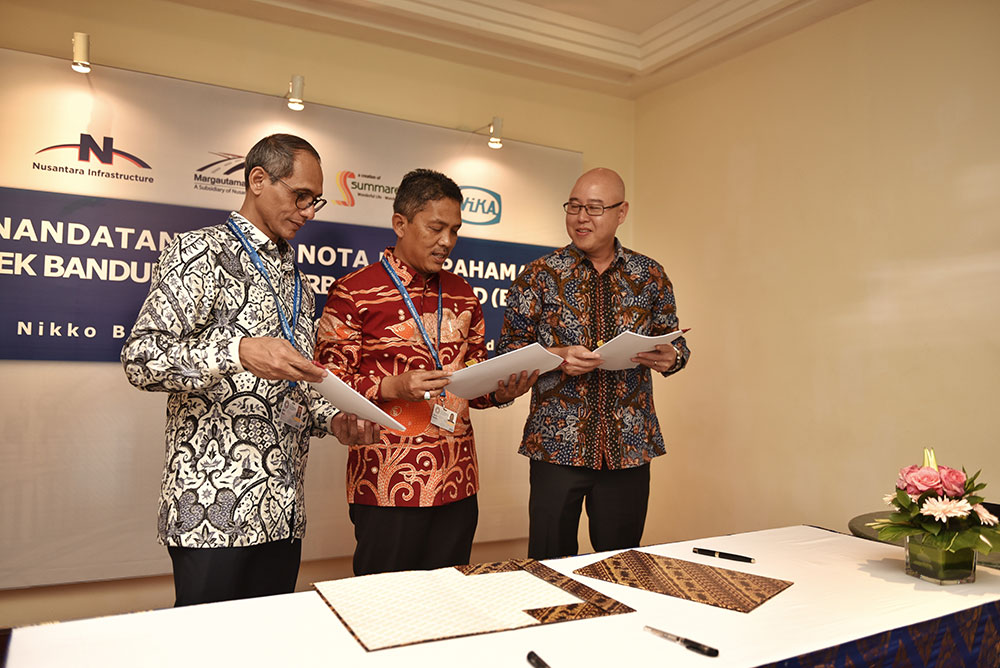 Memorandum of Understanding Signing of Bandung Intra Urban Toll Road (BIUTR) Project