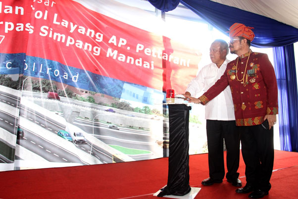 Groundbreaking AP. Pettarani Flyover Toll Road