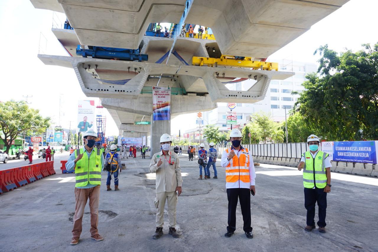 Segera Rampung, Proyek Tol Layang Pettarani, Makassar Memasuki Tahap Akhir Pemasangan Box Girder