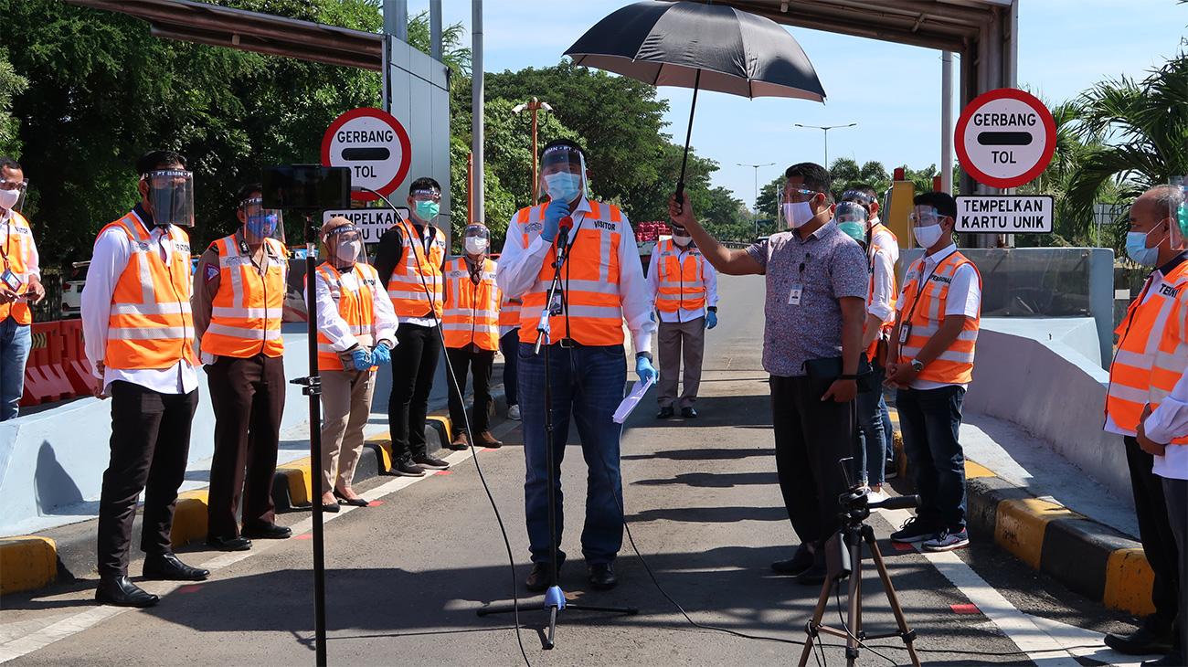 Manajemen Tol Makassar Beri Kemudahan Para Pengguna Jalan, Melalui Penerapan Sistem Top Up UNIK Via Aplikasi Whatsapp