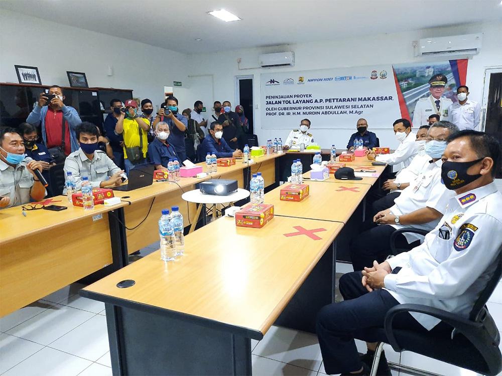 Site Visit Proyek Jalan Tol Layang A.P. Pettarani dengan Gubernur Sulawesi Selatan dan Pj. Walikota Makassar
